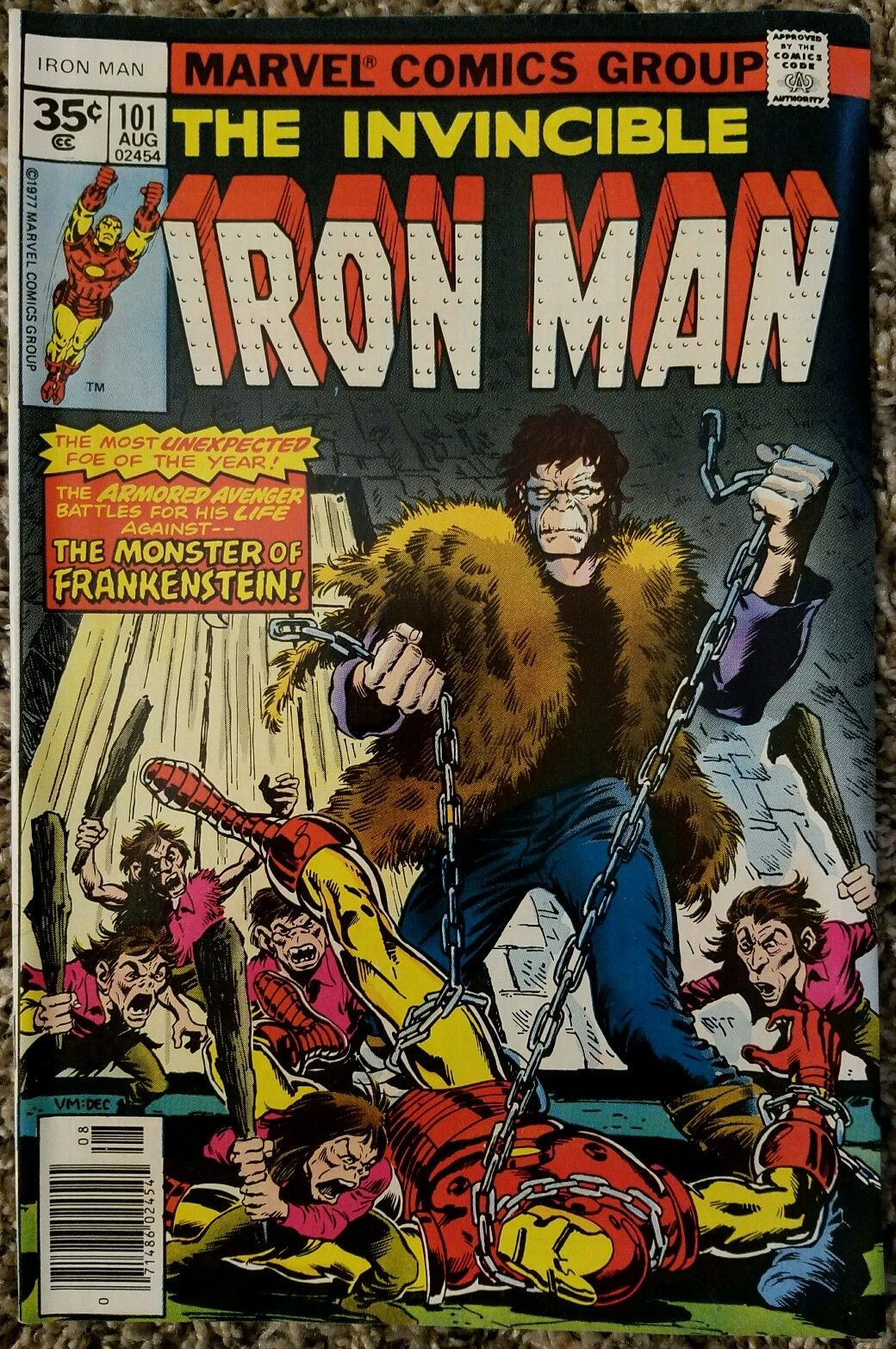 INVINCIBLE IRON MAN 101 35 CENT VARIANT AUGUST 1977 MARVEL COMICS HI GRADE RARE