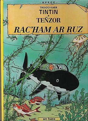 TINTIN EN BRETON LE TRESOR DE RACKHAM LE ROUGE (TENZOR RAC'HAM AR RUZ) HERGE