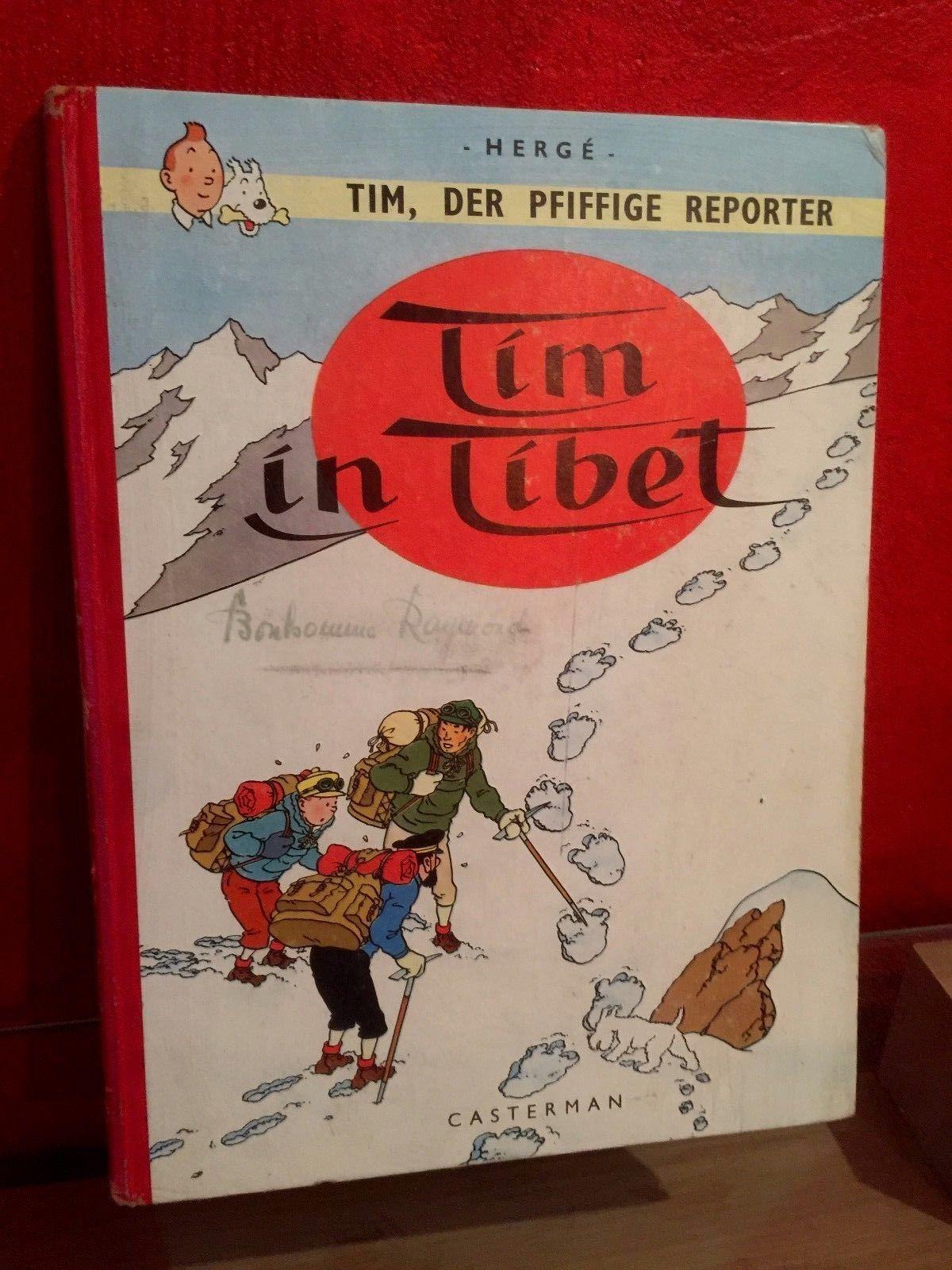 TIM,DER PFIFFIGE REPORTER IN TIBET/TINTIN AU TIBET EO ALLEMAGNE 1963/B++/RARE