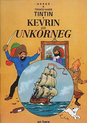 Tintin : Secret de la Licorne en BRETON - An Here - 1993 - 1ère édition