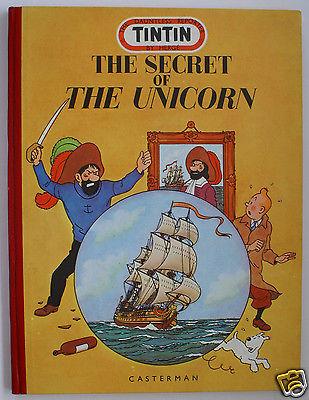 "Hergé Tim Kuifje Tintin "" The Unicorn "" médaillon proche du neuf stock Casterman"