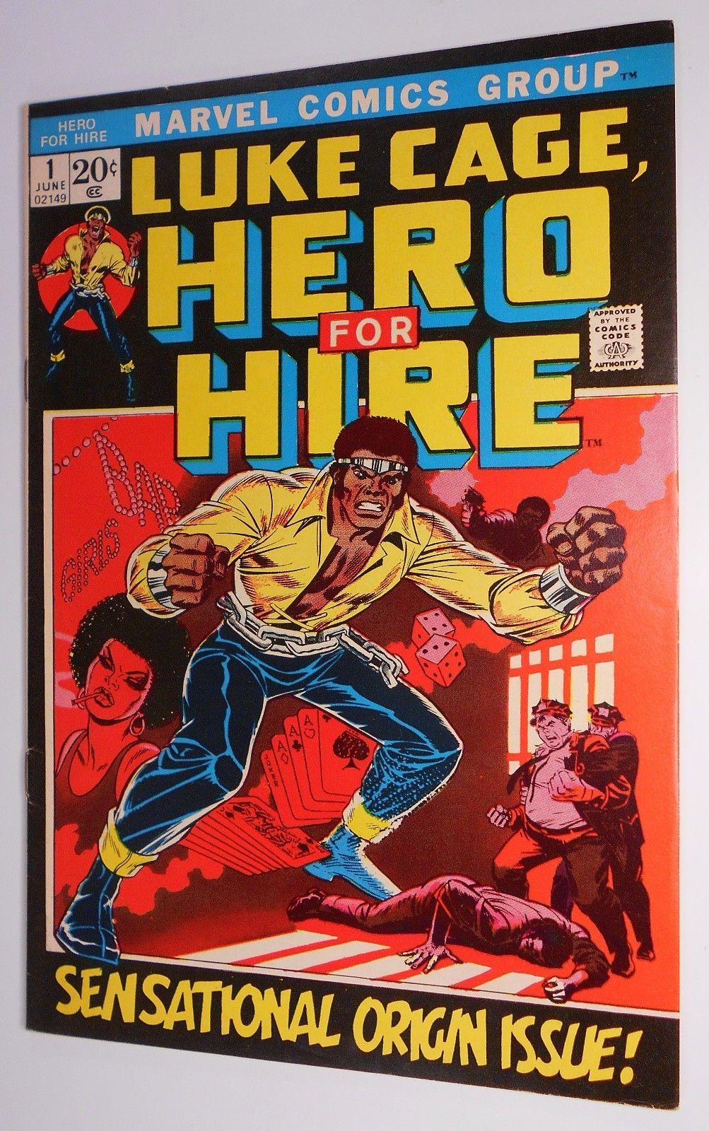 LUKE CAGE Hero For Hire 1 2 3 4 5 (Marvel 1972) Key Issue Power Man Origin