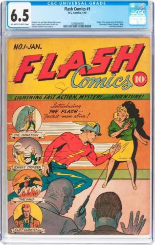 Flash Comics #1 (DC, 1940) CGC FN+ 6.5 Off-white to whi Lot 91109
