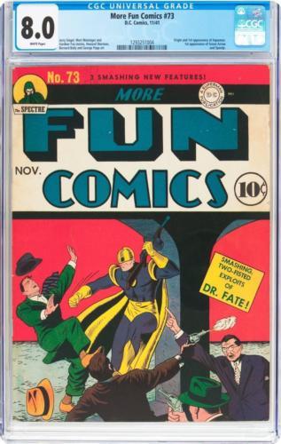 More Fun Comics #73 (DC, 1941) CGC VF 8.0 White pages. Lot 91141