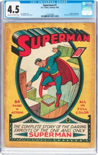 Superman #1 (DC, 1939) CGC VG+ 4.5 Cream to off-white p Lot 91196