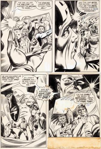 Gene Colan and Joe Sinnott Captain America #118 Story P Lot 93061