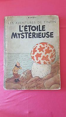 Tintin L'étoile mystérieuse 1946 B1 papier épais