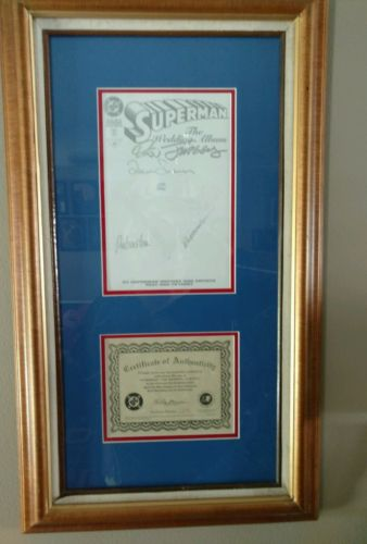 Superman The Wedding Album, signed certificate of Authenticity