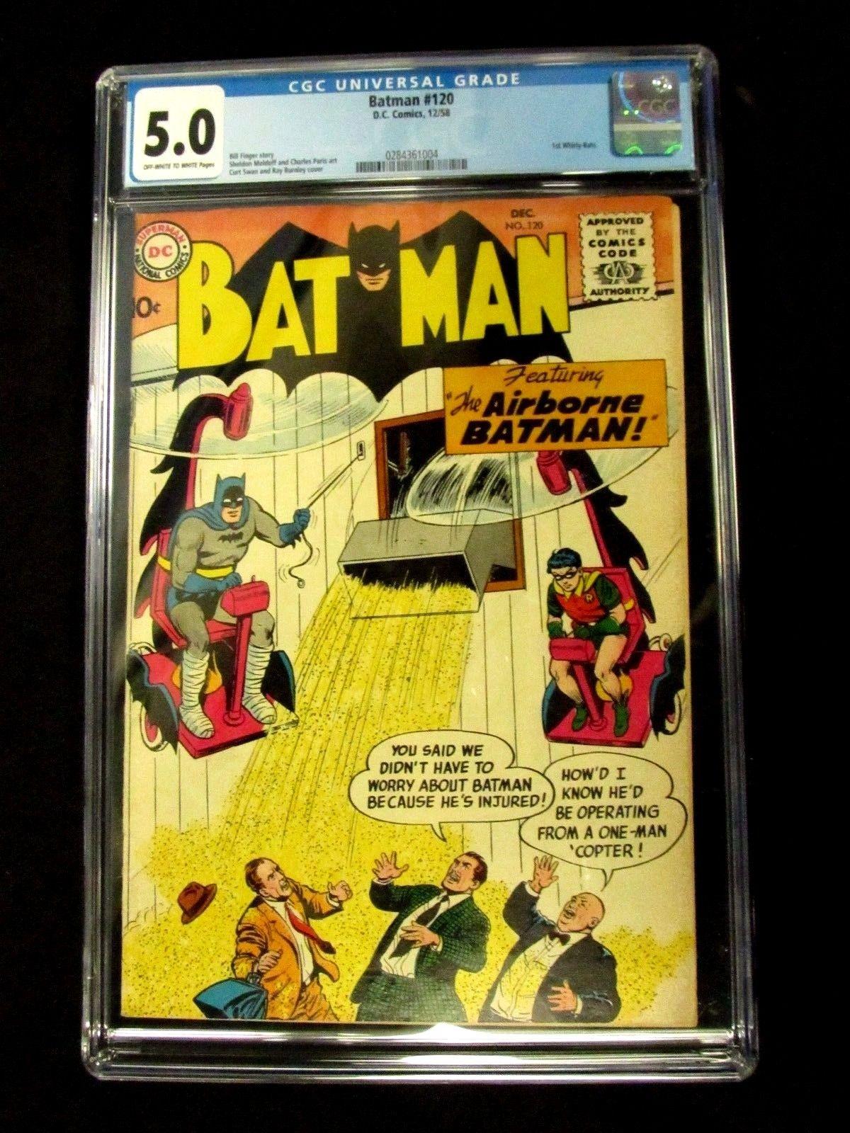 DC Comics Batman #120 (1958) CGC Graded 5.0 Whirly-Bats 1st Appearance V106