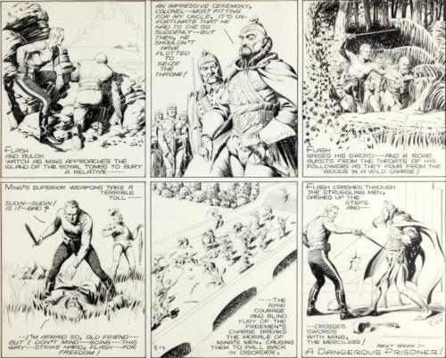 Alex Raymond Flash Gordon Sunday Comic Strip Original A Lot 93195