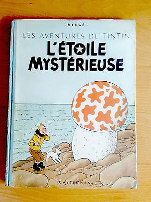 TINTIN Hergé L'étoile mystérieuse; dos bleu; 1946 B1; papier épais