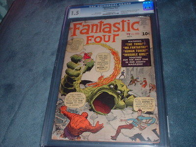 FANTASTIC FOUR #1 / NOV.1961 / CGC 1.5 / FIRST FANTASTIC FOUR /SUPER HERO TEAM
