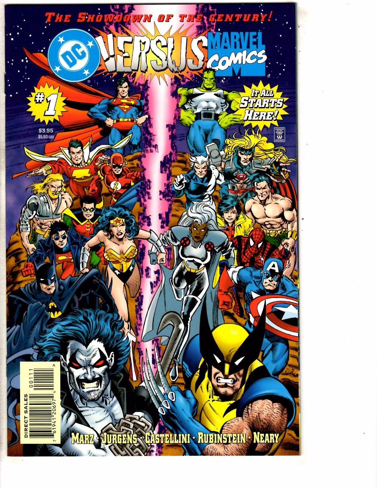 DC Versus Marvel Comics Complete Ltd. Series # 1 2 3 4 NM 1st Prints Batman J200