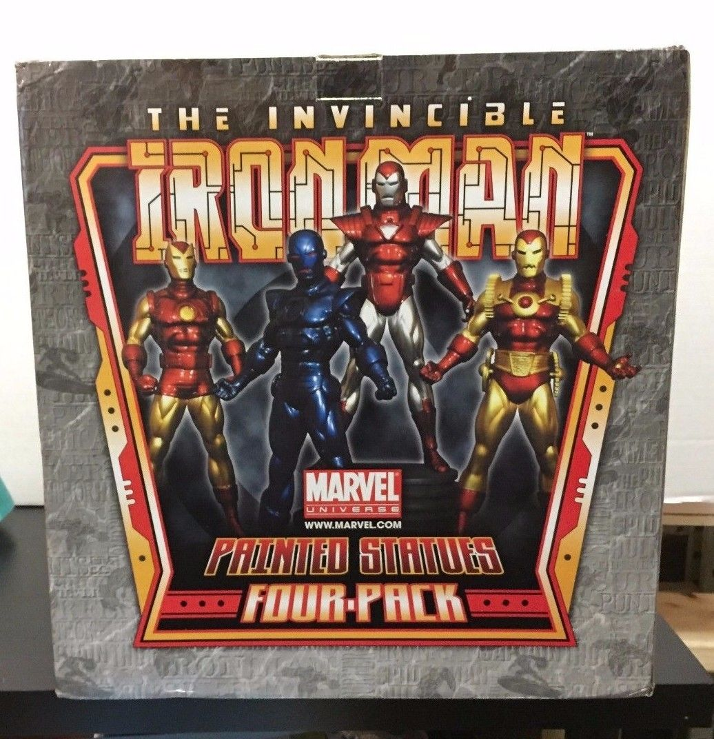 BOWEN THE INVINCIBLE IRON MAN FOUR PACK PAINTED STATUE SET LOW NUMBER 5/300