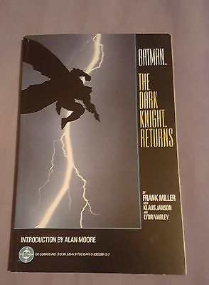 Batman The Dark Knight Returns TPB  1st Print   Frank Miller Intro by Alan Moore