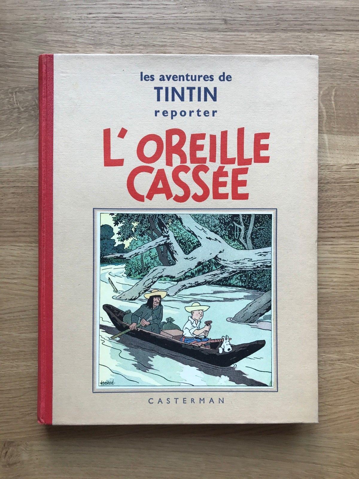 Hergé Tintin l'Oreille Cassée A2 EO N&B 1937 Etat NEUF.