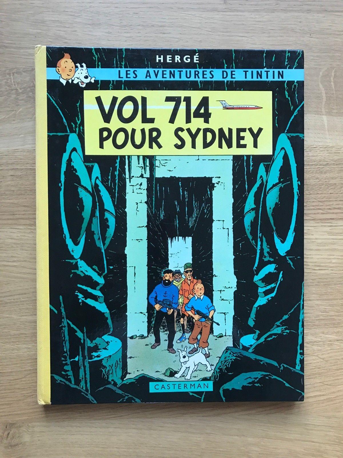 DEDICACE Hergé Tintin Tirage de Tête Vol 714 pour Sydney 250ex. 1968 Proche NEUF