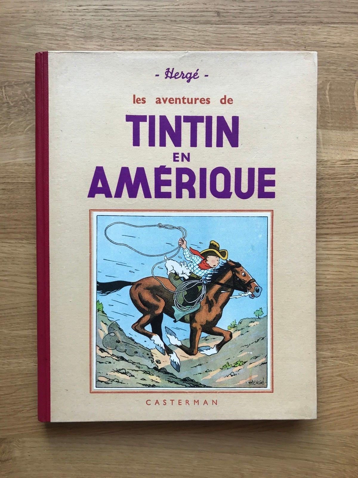 Hergé Tintin en Amérique A14bis ED N&B 1941 Etat Tout Proche du NEUF.