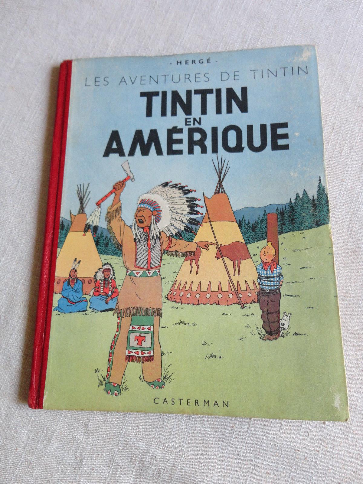 TINTIN EN AMERIQUE B2 1946   RARE  TTBE