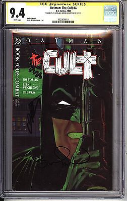 * BATMAN: The Cult #4 CGC 9.4 SS Signed Starlin & Wrightson (132360810) *