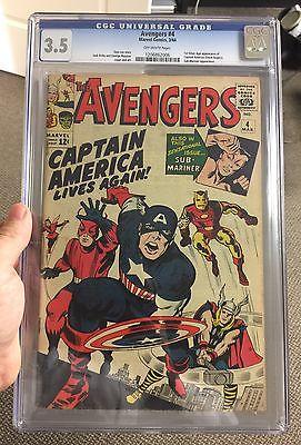 The Avengers #4 CGC 3.5 (Mar 1964, Marvel)