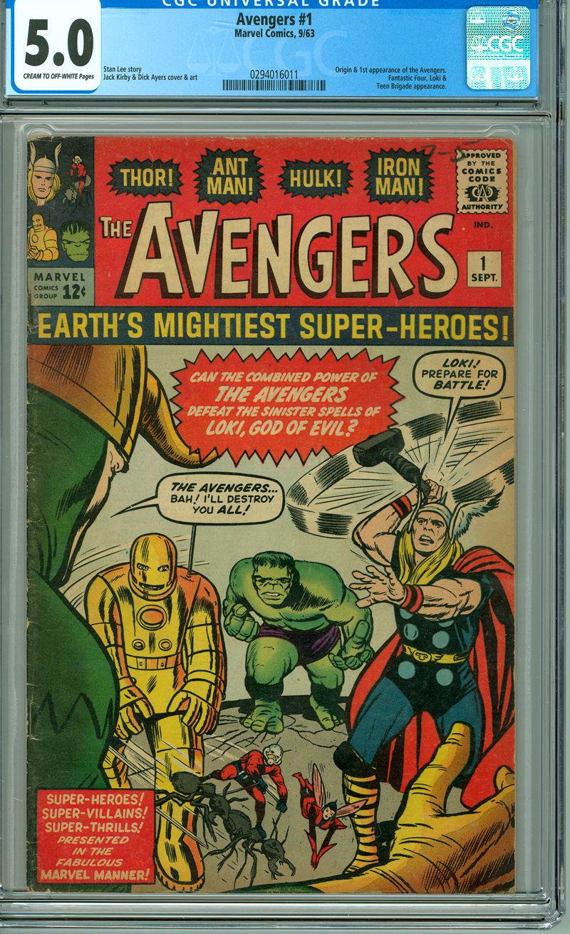 Avengers 1 CGC 5.0 VG/F Marvel 1963 Thor Hulk Iron Man Ant-man 1st App Avengers