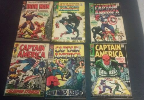 Marvel Silver Age Iron Man Captain America # 97 98 100 101 102 103 Comic Lot