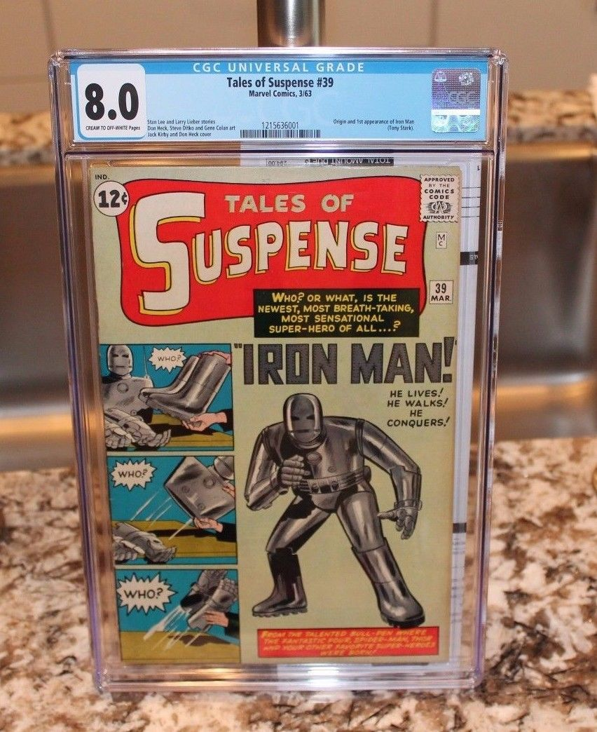 Tales of Suspense 39 CGC   8    Silver Age Marvel Key Comic 1st Iron Man