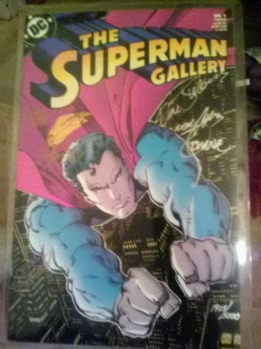 Superman gallery autographed comic COA Neal Adams Jim Steranko Curt Swan +3 NM+