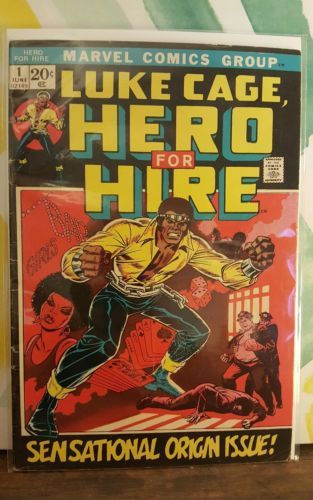 Hero for Hire #1 VG+ (First appearance of Luke Cage) Key issue. 1972 Marvel