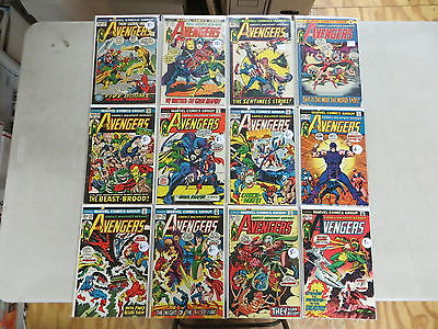 AVENGERS 12 ISSUE BRONZE COMIC RUN 101-116 MARVEL THOR IRON MAN