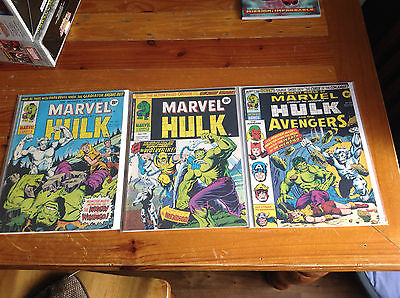 THE MIGHTY WORLD OF MARVEL 197, 198, 199 1ST APPEARANCE OF WOLVERINE. 1976.