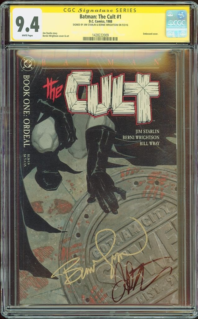 Batman the Cult #1 CGC SS 9.4 Signed by Jim Starlin & Bernie Wrightson NM