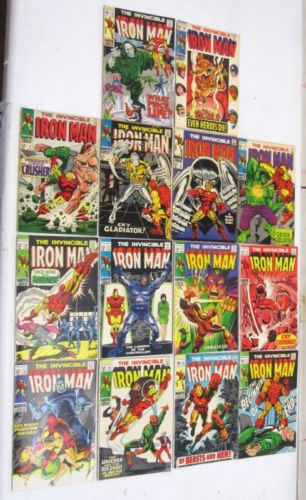 THE INVINCIBLE IRON MAN COMPLETE RUN EARLY ISSUES MARVEL COMIC BOOK L... Lot 137