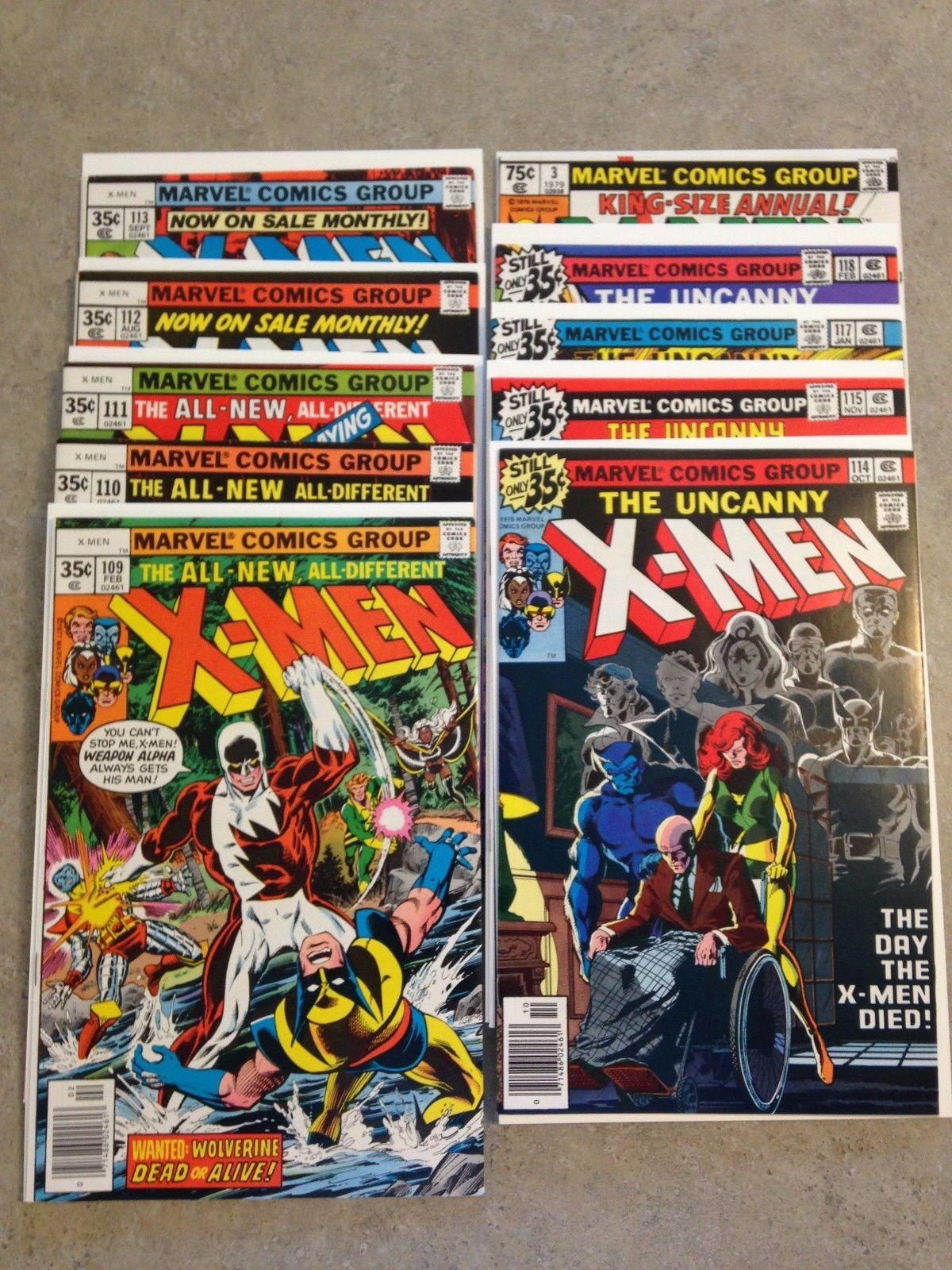 Uncanny X-men 109,110,111,112,113,114,115,117,118, Annual #3 - (no  #116)