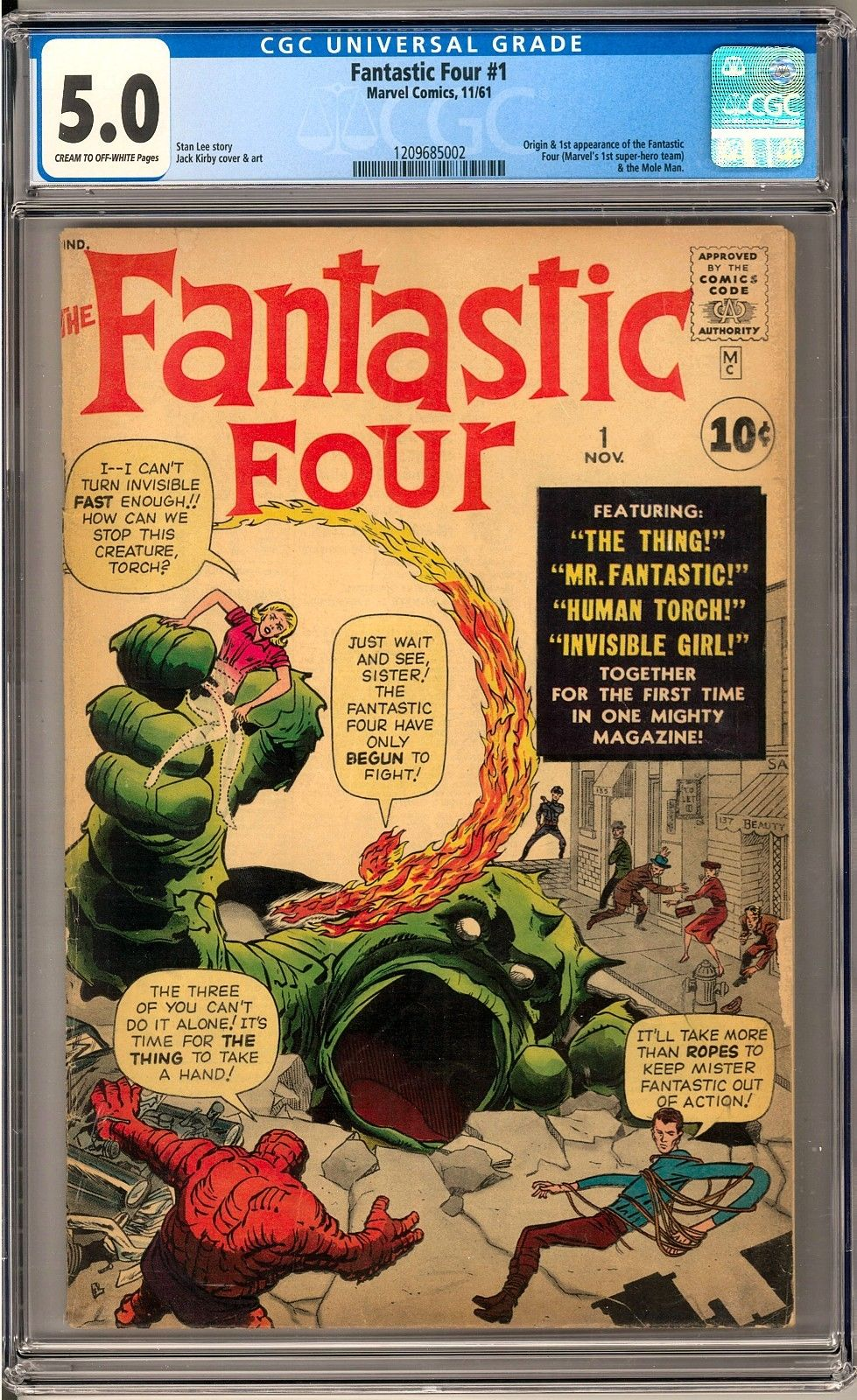 Fantastic Four #1 CGC 5.0 (C-OW) Origin & 1st Appearance of the Fantastic Four