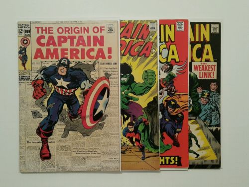 Captain America #109 (1969), 110, 118, 103, Silver Age Key Lot, All Midgrades