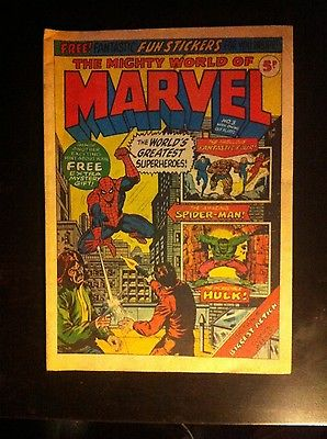 The Mighty World of Marvel #3 WITH Original Free Gift Great Condition