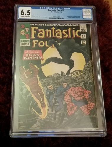 Fantastic Four #52 CGC 6.5 1st app of black panther 1962