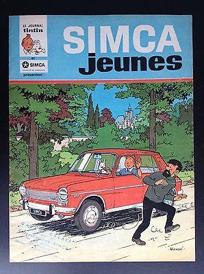 Rare fascicule Simca Jeunes Tintin histoire inédite Ric Hochet TIBET Franquin
