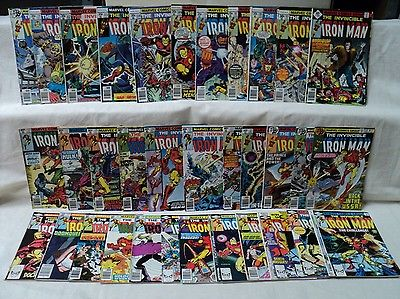 Iron Man 101-150 SET (miss.3bks) SET Solid 1977-1981 Marvel Comics (s 7868)