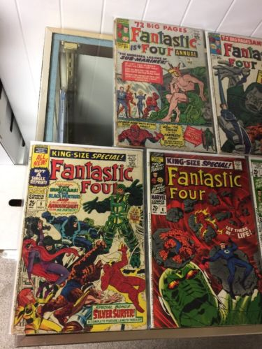 Fantastic Four Annuals 1 2 3 4 5 6 2.0-4.0 Gd-Vg 7 6.0 Fn 12 13 Vf Very Fine