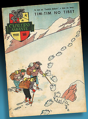 ALTES TIM UND STRUPPI IN TIBET PORTUGAL COVER JOURNAL DE TINTIN 1961 HERGÉ