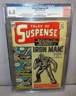 TALES OF SUSPENSE #39 (Iron Man 1st app. & origin) CGC 6.0 FN Marvel Comics 1963