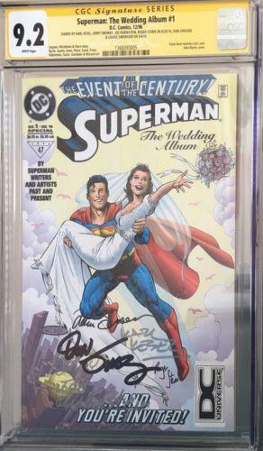 Superman: The Wedding Album #1 CGC SS 9.2 signed 6x - Stern, Jurgens - Newsstand