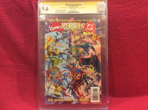 Marvel versus DC #2 CGC signature series signed by Stan Lee