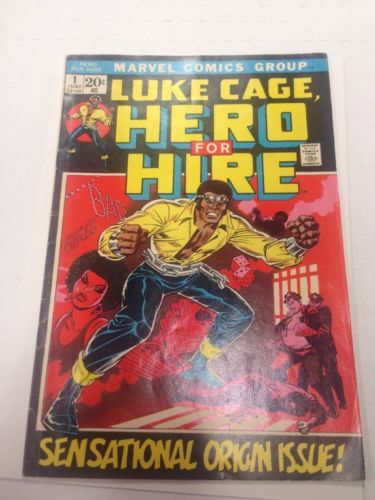 Luke Cage Hero For Hire #1 Sensational Origin Issue Comic Marvel Free Ship
