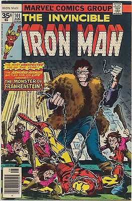 Iron Man #101 Marvel 1977 35 cent variant RARE nice looking book