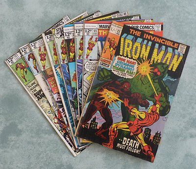 Marvel The Invincible Iron Man #22,99,110,111,116,122,123,124,127 - 9 issue lot