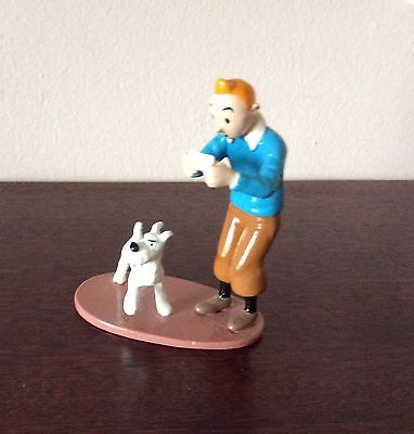 Figurine Tintin Pixi Moulinsart  TINTIN CARTE VISITE RACKHAM LE ROUGE limitée